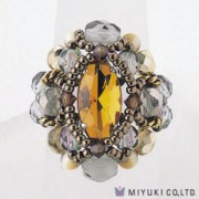 Miyuki Bead Jewelry Kit B0 89-2 Courtly Ring Topaz